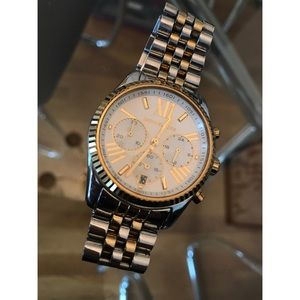 Micheal Kors women's Silver and Gold Watch